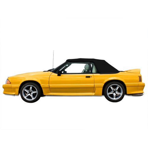 Pinpoint Vinyl Top (Ford Mustang Convertible Top for 91-93 Models in Pinpoint Vinyl with Glass Window, Black)