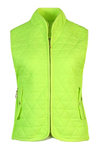 yellow quilted vest - 5