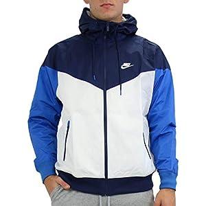 Nike Men's Sportswear Windrunner Jacket (White/Navy/Blue, M)