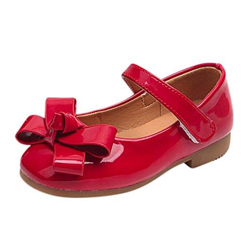 Hunpta Prinzessin Schuhe, Baby Mädchen Bowknot Sandalen Sneaker Kleinkind Kinder Weiche Beiläufige Einzelne Schuhe Rot
