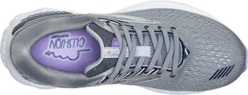 Brooks Women's Adrenaline GTS 19 Grey/Lavender/Navy 5 D US by Brooks (Image #1)