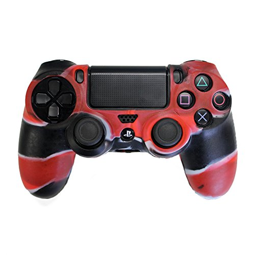 Silicone Protective Controller for Sony PS4 (Red/Black) - 8
