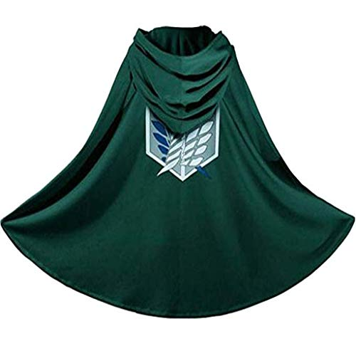 Attack on Titan Wings of Liberty Cloak Cape Clothes Cosplay The Strongest Corps - The Investigation Team Green]()