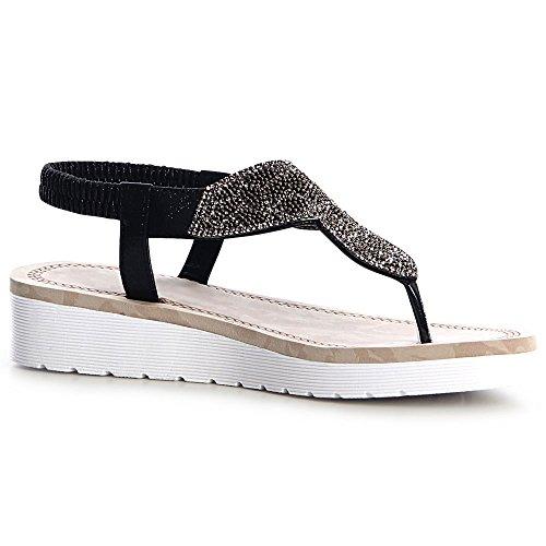 Femmes Femmes topschuhe24 Noir Noir Femmes Sandalettes Sandalettes topschuhe24 Sandales Sandales topschuhe24 UqFA0xxn