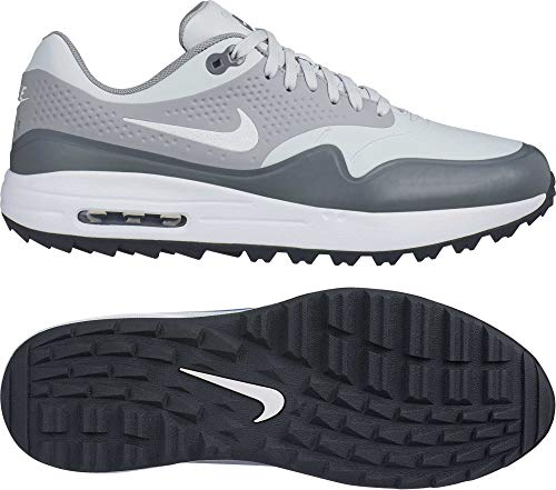 Nike Air Max 1 G Spikeless Golf Shoes 2019 Pure Platinum/White/Wolf Gray/Cool Gray Medium 8.5 (Best Golf Shoes 2019)