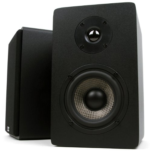 - Micca MB42X Bookshelf Speakers With 4-Inch Carbon Fiber Woofer and Silk Dome Tweeter (Black, Pair)