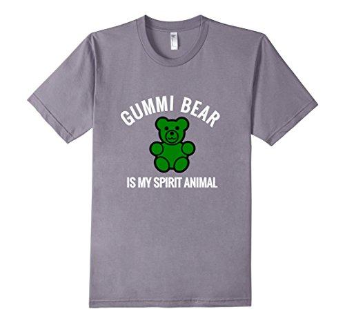 Men's Gummi Bear Spirit Animal Shirt  Medium Slate (Gummy Bear Shirt compare prices)