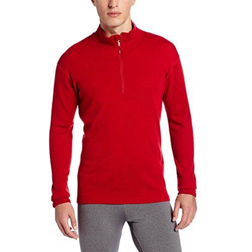 Minus33 Merino Wool Men's Isolation Midweight 1/4 Zip, True Red, X-Large