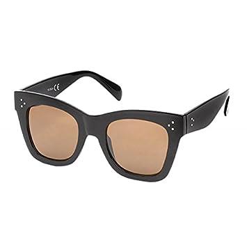Sonnenbrille Cat Eye 400 UV drei Punkte Metall getönt getigert schwarz breit bPaVZ1wwRT