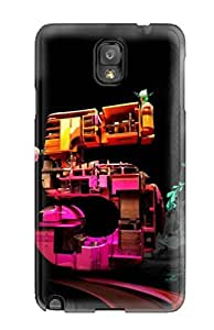 Dwoolll Case Cover For Galaxy Note 3 - Retailer Packaging 3d Cgi Abstract Cgi Protective Case