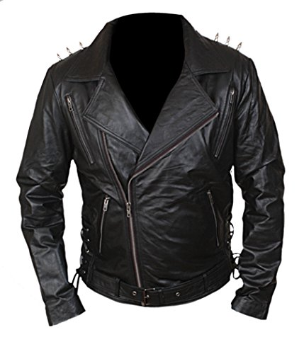 F&H Boy's Ghost Rider Metal Spikes Rider Jacket M Black for $<!--$129.95-->
