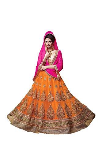 PCC Indian Women Designer Wedding Orange Lehenga Choli Fabz-2068