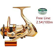 FAIGAFAIVA Spinning Fishing Reels 12 Stainless BB Light Weight/Heavy Duty Powerful Metal Spool 1000 2000 3000 4000 5000 6000 7000 8000 9000 Series for Saltwater/Freshwater