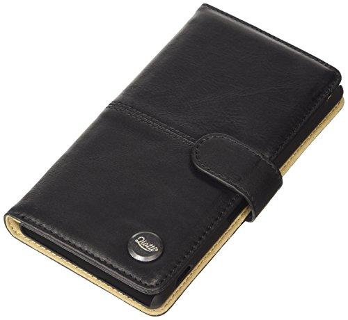 QIOTTI Q. Book Smart Premium Étui Livret en cuir véritable pour Sony Xperia Z4–Brut Noir