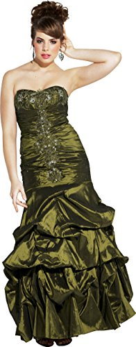 Beaded Taffeta Long Evening Gown Prom Homecoming Dress, XS, ()