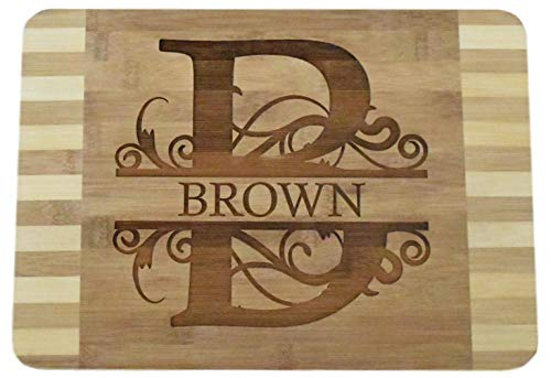 "Personalized Custom Engraved Bamboo Wood Cutting Board - 13.5""x9.6""x0.68"" - Beautiful, made to order & affordable"