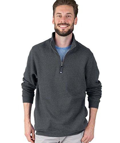 (Charles River Apparel Adult's Crosswind Quarter Zip Sweatshirt (Regular & Big-Tall Sizes), Dark Charcoal XXS)