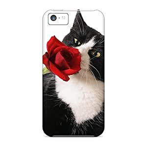 Tpu Case Cover Compatible For Iphone 5c/ Hot Case/ Tuxedo A Rose