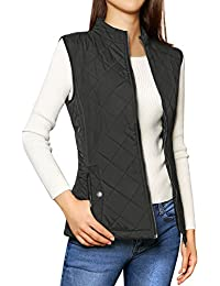 Women's Stand Collar Lightweight Gilet Quilted Zip Vest