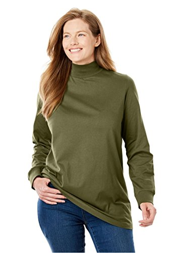 Knit Turtleneck Shirt - Women's Plus Size Perfect Mock Neck Knit Top