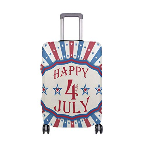 Suitcase Cover Happy 4Th Of July Stars And Stripes Luggage Cover Travel Case Bag Protector for Kid Girls