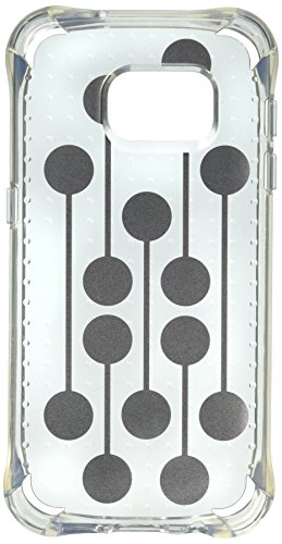 Ballistic, Galaxy S7 Case [Jewel Mirage] Laser Etched Metal Design [Silver Dots] Reinforced Bumper 6ft Drop Test Case Cell Phone Case for Samsung Galaxy S7 - Clear w/ Silver VM Pattern