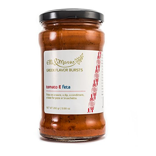 - Elli & Manos Greek Flavor Bursts - Tomato & Feta - 280gr/9.88oz - highly concentrated spread/veggie dip