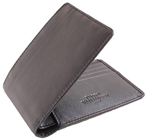 8 David Wallet Black Mens Van Card Van Hagen David Hagen Bifold rwzq4fxYWr
