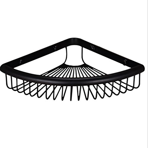 FeN Bathroom Storage Basket,Black Antique Brushed Brass Storage Shelf, Hotel Torage Organizer Shelves, Kitchen Holder, Triangular Rack by FeN