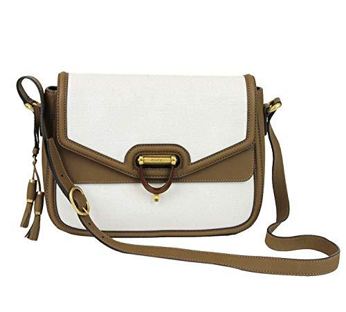 Gucci Women's White Canvas Derby Messenger Bag 309586