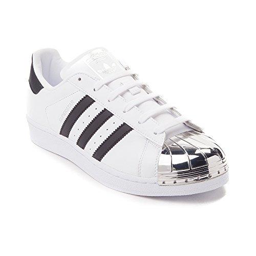 adidas Originals Women's Superstar W Fashion Sneaker (Womens 9, White Silver Toe 6310)
