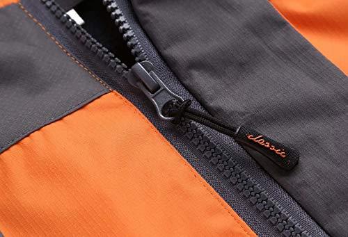 uk Capuche Manteau Orange Licy Polyester Garçon Outdoor Femme Unisexe Zip Légère Blouson Casual Veste Softshell Printemps Life Automne Homme Sport Imperméables Hiver pq7wqB