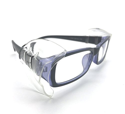 Wanty 2 Pair Universal B26+ Wing Mate Safety Glasses Side Shields - Fits Small to Medium - Eye Shield Metal