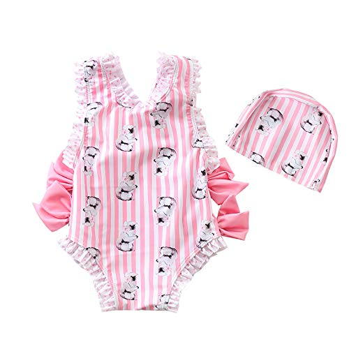 - Baby Toddler Girl Unicorn Swimsuit-One Piece Swimwear Infant Toddler Cartoon Sunsuits Bathing Suits for Baby Girls Age1 2 3 4 5 6 7