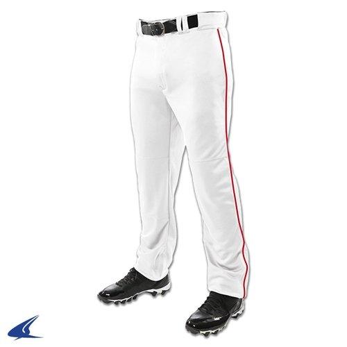 Champro Triple Crown Open Bottom Baseball Pants - White/Scarlet - Youth X-Large