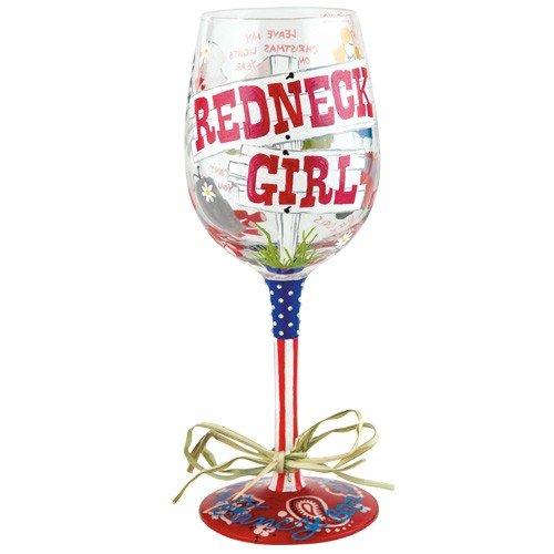 Lolita from Enesco Wine Glass, Redneck Girl (Wine Oversized Decoration Glass)