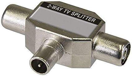 Splitter/Combinador Universal Antena TV 2 Entradas 1 Salida ...