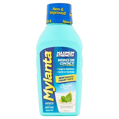 Maalox Liquid - Mylanta Maximum Strength Liquid 12 FL Oz Mint (2 Pack)