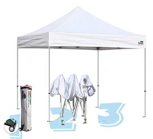 Commercial Grade Std 10x10 White Canopy Tent Pop Up Gazebo