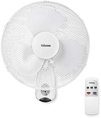 Tristar ve-5875 - ventilador de pared, 40.cm, oscilante, control remoto y temporizador: Tristar---Princess: Amazon.es: Bricolaje y herramientas