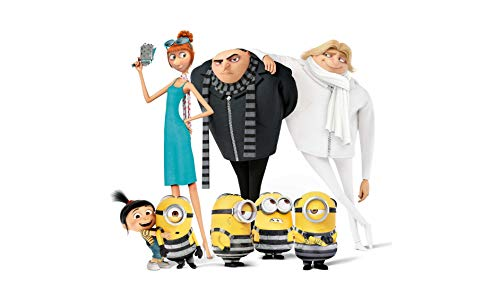 Disney Despicable Me 3 Minions Felonious Gru Agnes Gru Lucy Wilde Dru Gru Edible Cake Topper Image ABPID03498 - 3