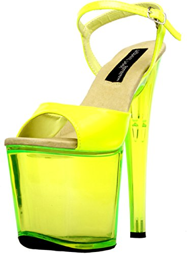 cheap sale for cheap cheap sale countdown package The Highest Heel Women's Fantasy-101 6 Inch Platform Sandal Neon Yellow Patent sneakernews cheap price with credit card cheap price cOma3SnCT