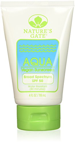 Nature's Gate Natural Aqua Block Vegan Sunscreen Lotion, Water Resistant, Fragrance Free, Paraben Free, Phthalate Free, Oxybenzone Free, Cruelty Free, SPF 50, 4 Ounce Recyclable Bottles (Pack of 3) - Fragrance Sunscreen Lotion