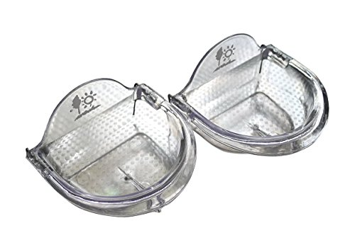 TOKYO-T Pet Bird Cage Seed Feeder Cup Shallow Style (S) Set of 2 For Zebra Finch