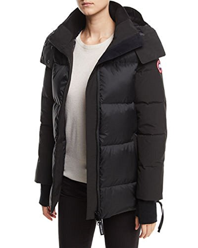 (Canada GooseWhitehorse Quilted Parka (Black, S))