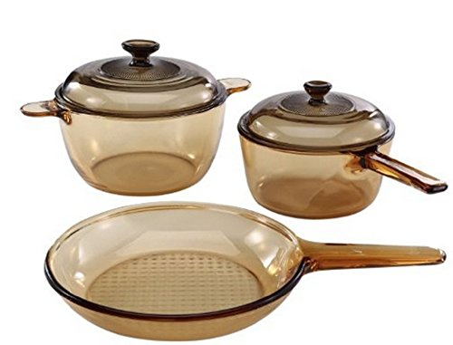 Visions 5 pc cookware set no pour spout kitchen cookware for Buy kitchen cookware