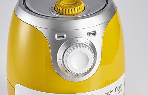 Ariete 4615 Airy Fryer Mini, Friggitrice ad aria senza olio, 1000 W, Capacità 2 Litri, Facile da pulire, Giallo 4