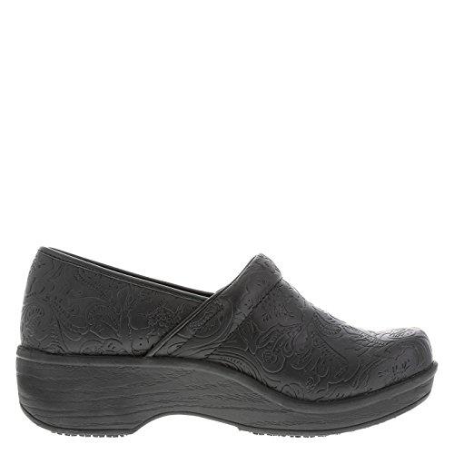 Embossed Clog Women's Black Resistant safeTstep Gretchen Paisley Slip 8wxaSnRp