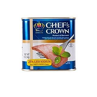 Tulip Chef's Crown 25% Less Sodium Luncheon Meat Ham, Produce of Denmark (12 oz) (25% Less Sodium (12 oz), 4 count)