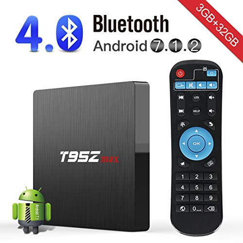 Android TV Box,Kingbox T95Z Max Android 7.1 Smart TV Box 3GB+32GB Amlogic S912 Octa-core A53 2.4/5G Wi-Fi H.265 3D 4K Bluetooth Set Top Box by kingbox